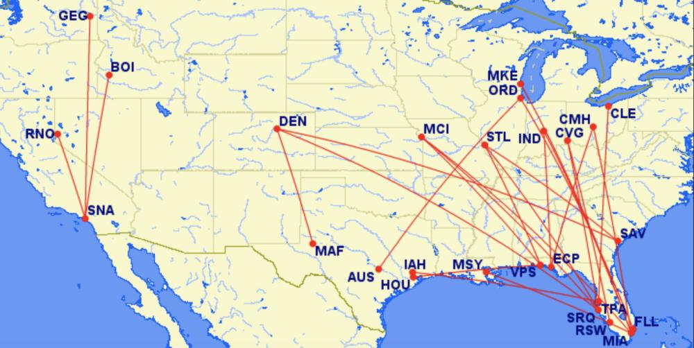Southwest new routes