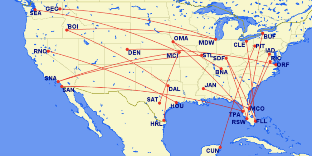 Southwest REsuming Routes