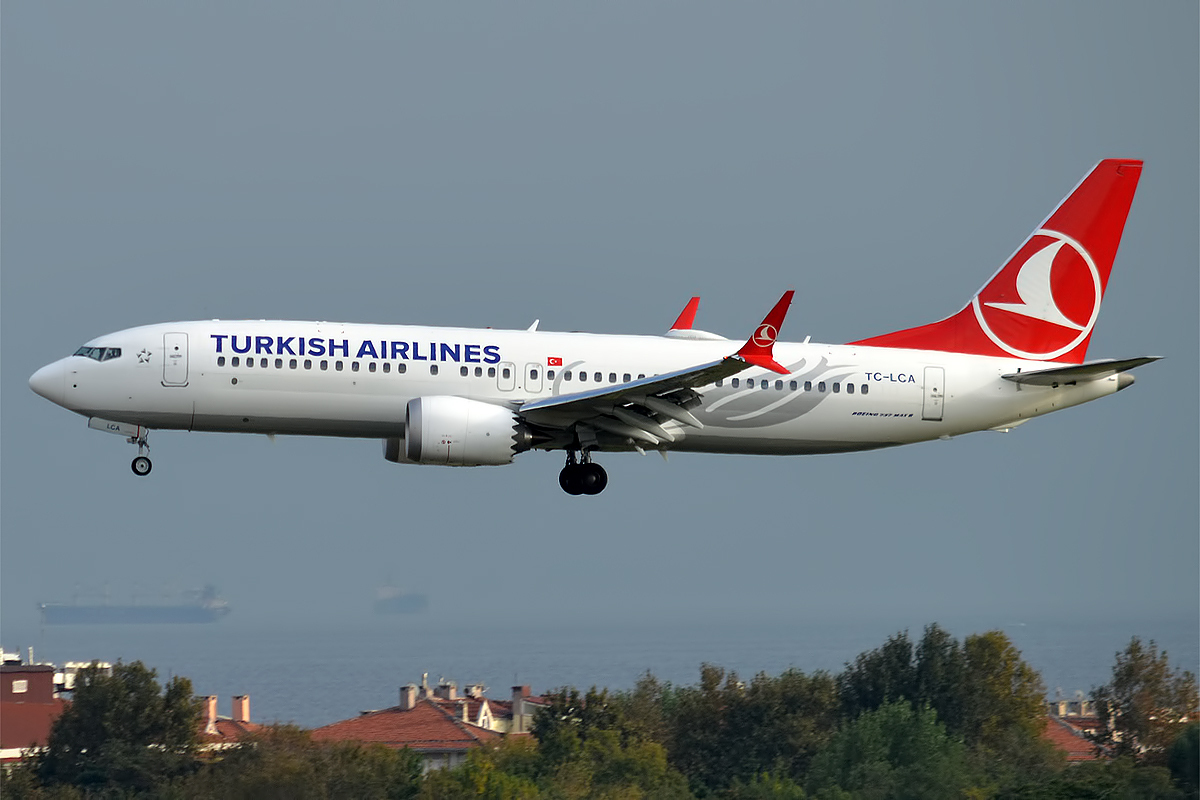 Turkish Airlines, TC-LCA, Boeing 737-8 MAX