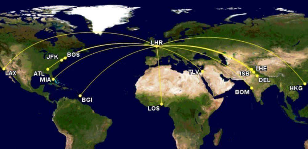 Virgin's routes next week