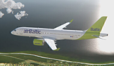 YL-AAU A220 airBaltic
