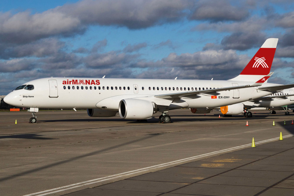 A New Airbus A220 Operator: Kyrgyzstan's Air Manas Takes Its First