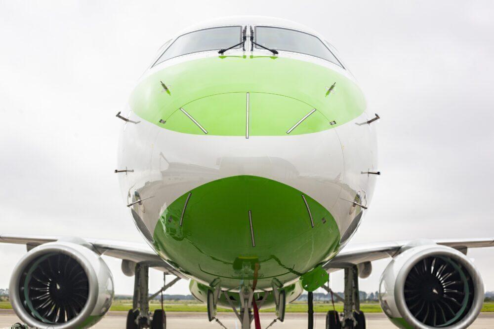 Binter Embraer E195-E2 aircraft