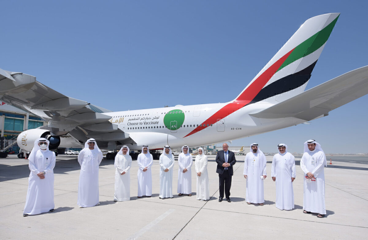 Emirates Operates Its First Fully Vaccinated Passenger Flight