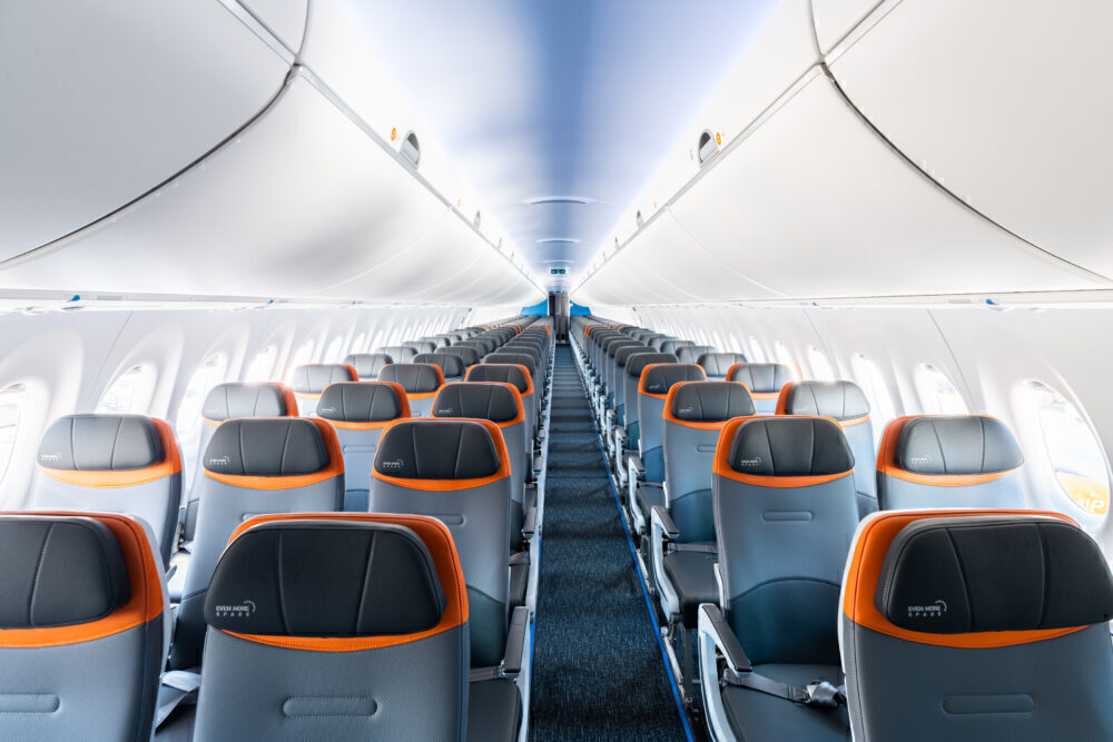 JetBlue A220 interior