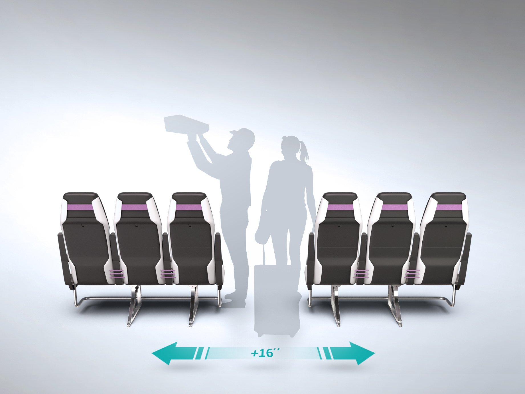 This Concept Allows You To Expand The Width Of An Aircraft Aisle