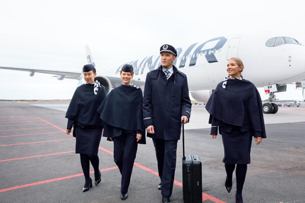 Finnair A350 crew