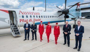 Austrian final Dash 8 flight