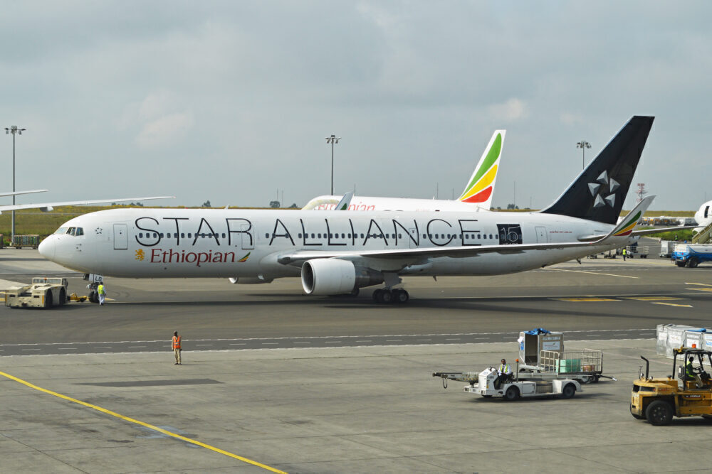 Ethiopian 767 Star Alliance