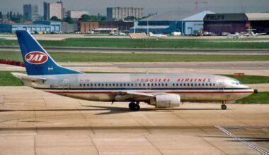 JAT Yugoslav Airlines Boeing 737