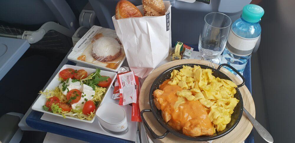 Austrian Airlines Spätzle and Paprika Chicken