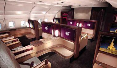 Qatar A380 first