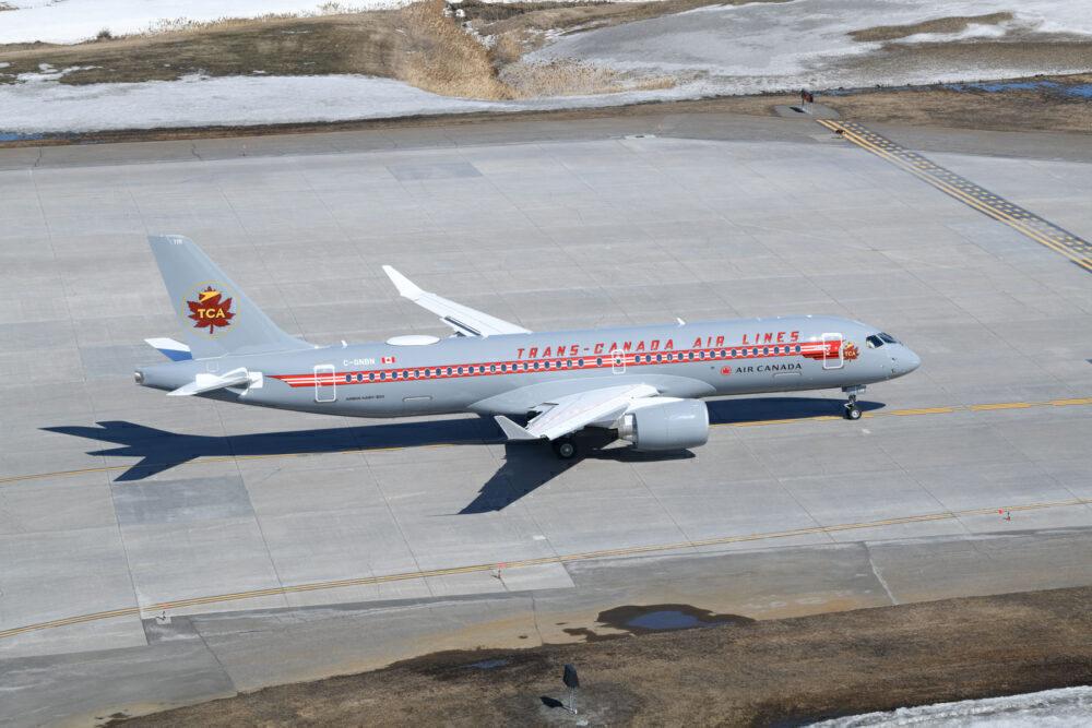 Air Canada TCA A220 Retrojet