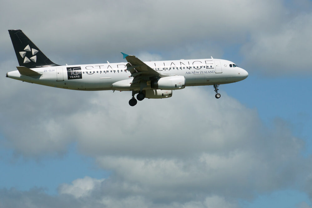 Air New Zealand Airbus A320 Star Alliance Livery