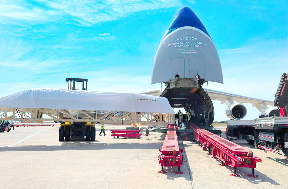 Antonov Airlines Transports Phenom 300 Parts Inside Its AN-124-100
