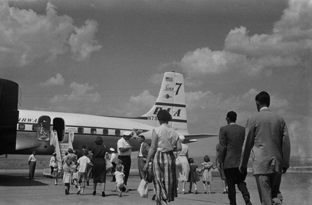 DC-7 Evacuees From Baghdad