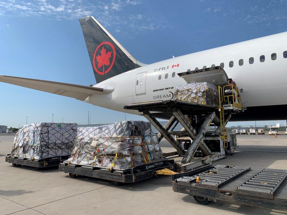 Air Canada India Aid Cargo