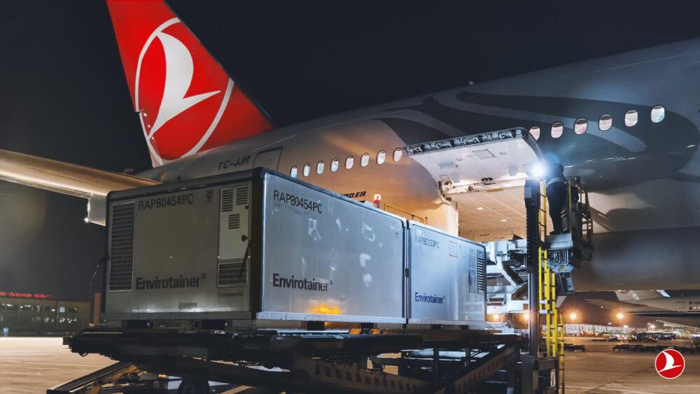Turkish Airlines passenger to cargo