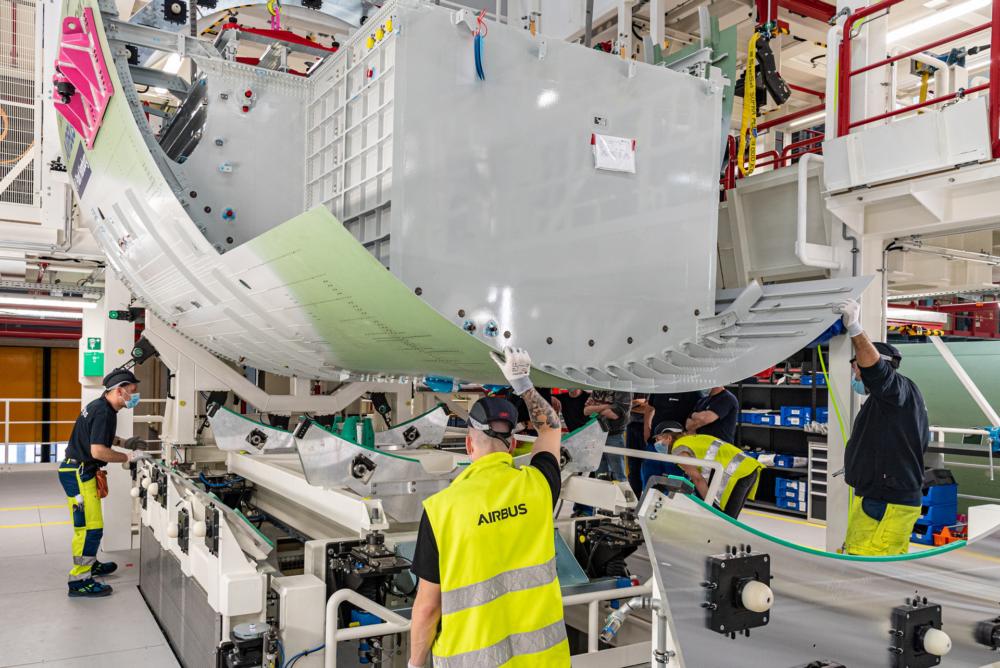 A321XLR construction