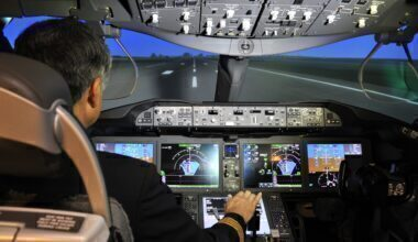 Head-up display HUD on the Boeing 787