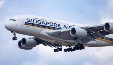 Singapore Airlines, Airbus A380, London Heathrow