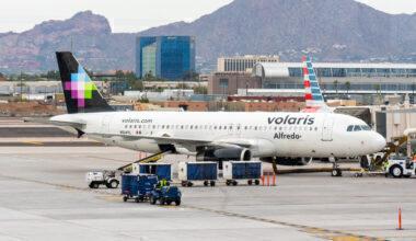 Volaris Airbus A320-200 aircraft seen at Phoenix Sky Harbor