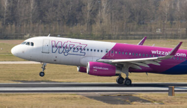 Wizz Air Airbus A320 Landing At Eindhoven Airport
