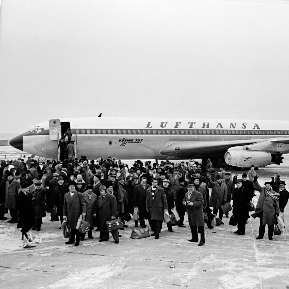 Boeing 707, Lufthansa, Hamburg Airport
