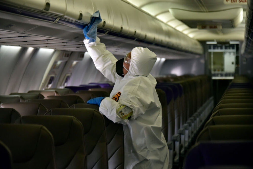 Aircraft Cleaning Getty