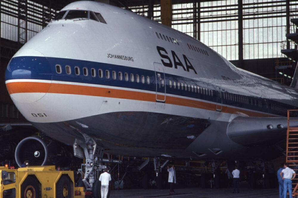 South African Airways Boeing 747-300 Getty