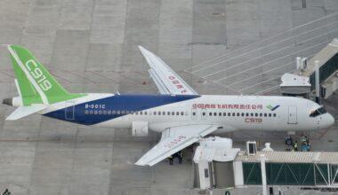 China's C919 Passenger Jet Lands In Wuhan