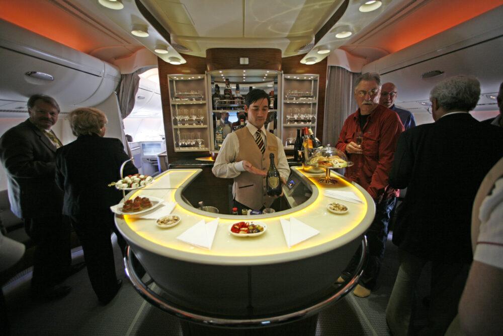 Emirates Airbus A380 Bar