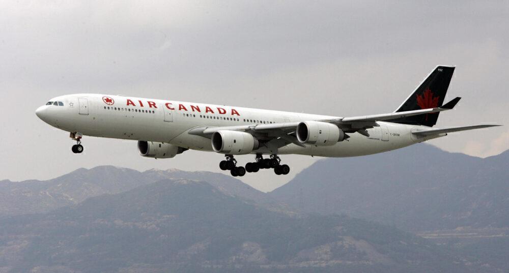 An Air Canada A340 aircraft