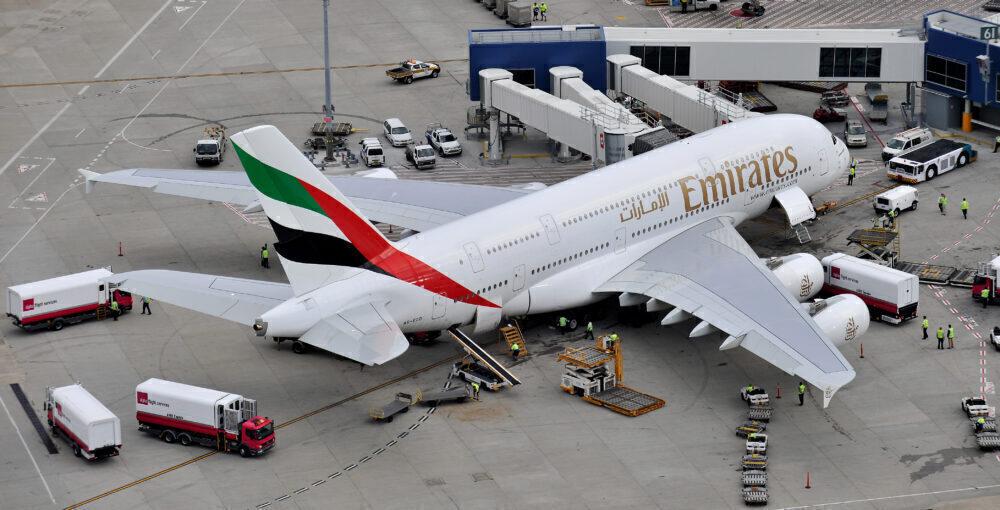 Emirates A380 Lands Into Sydney, Australia
