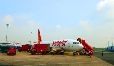 SpiceJet 737 Parked Getty