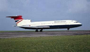 Hawker Siddeley Trident 1E aircraft, 1963.
