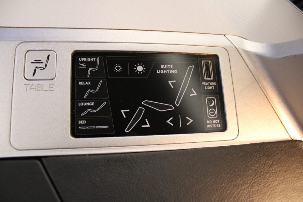 Seat Control Panel
