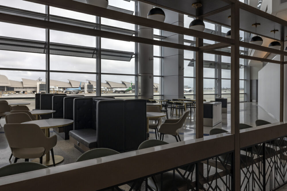 Airport lounge space