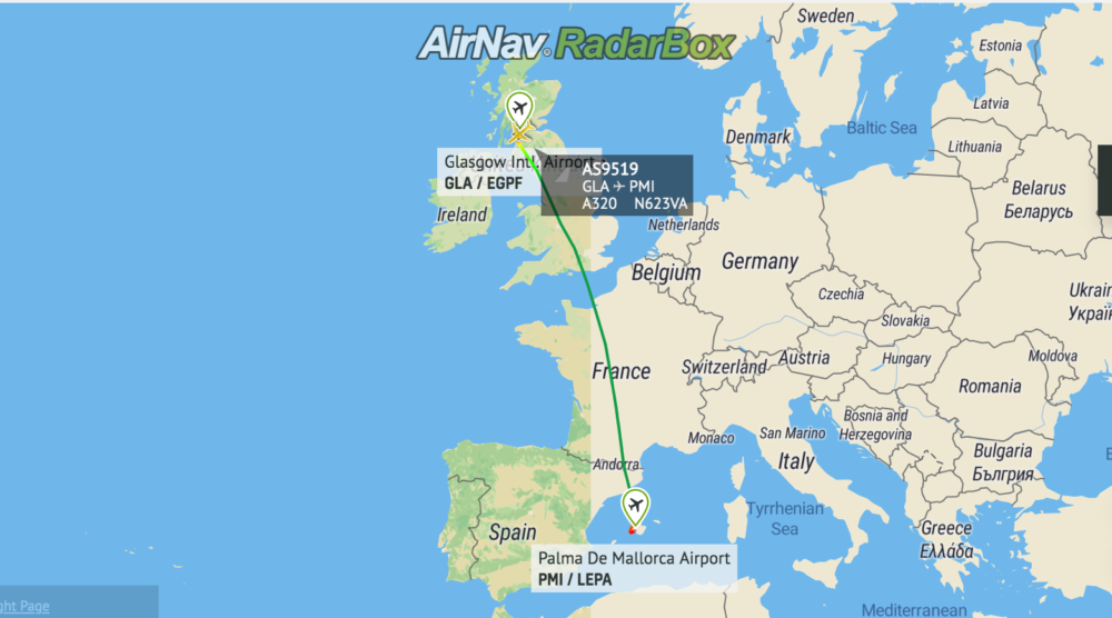 Why An Alaska Airlines A320 Flew Over Europe Today