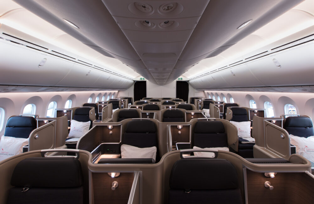 Qantas business 787