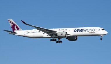 Qatar Airways Airbus A350-1041 A7-ANE