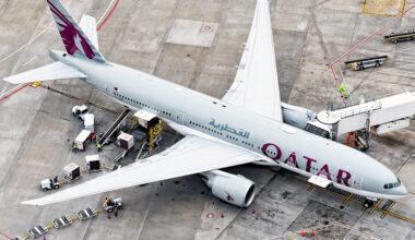 Qatar Airways Boeing 777-2DZ(LR) A7-BBF