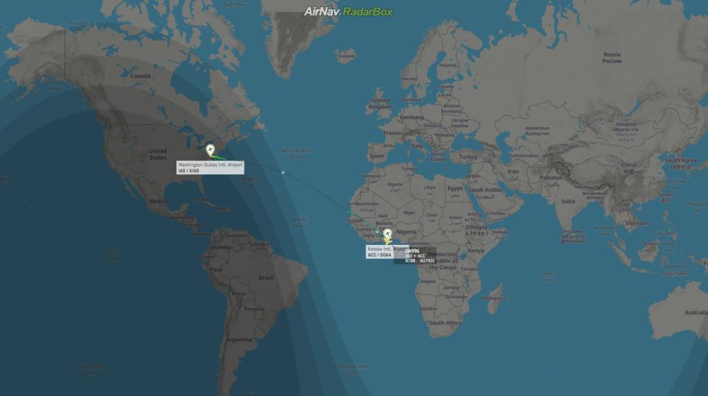 Flight UA996 RadarBox