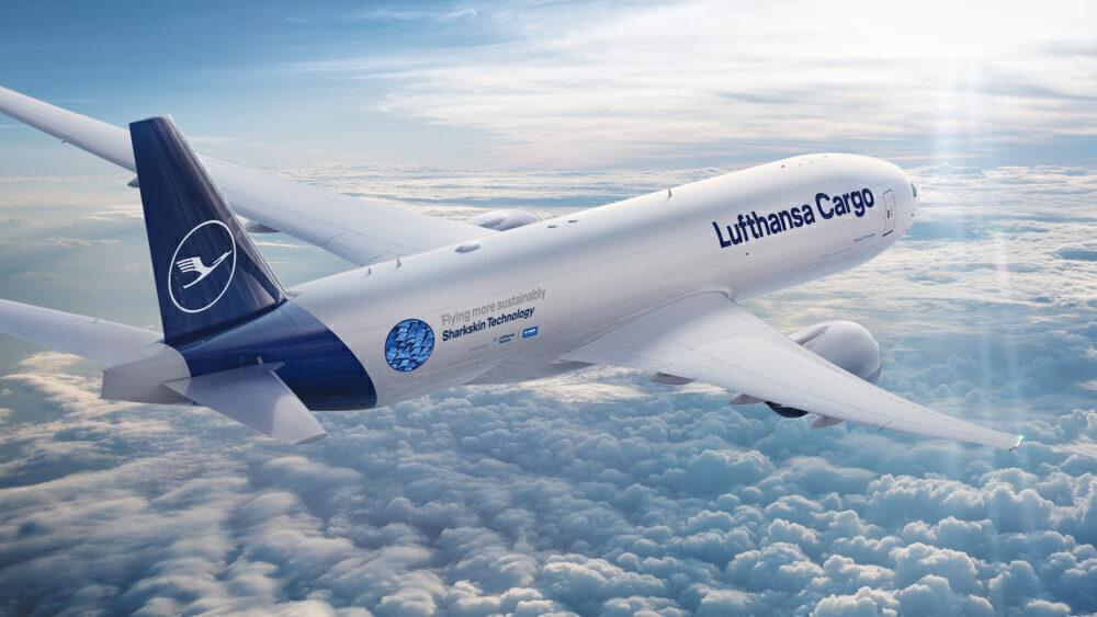 Lufthansa Cargo, Boeing 777F, Sharkskin