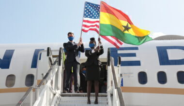 United Arrives in Accra (2)