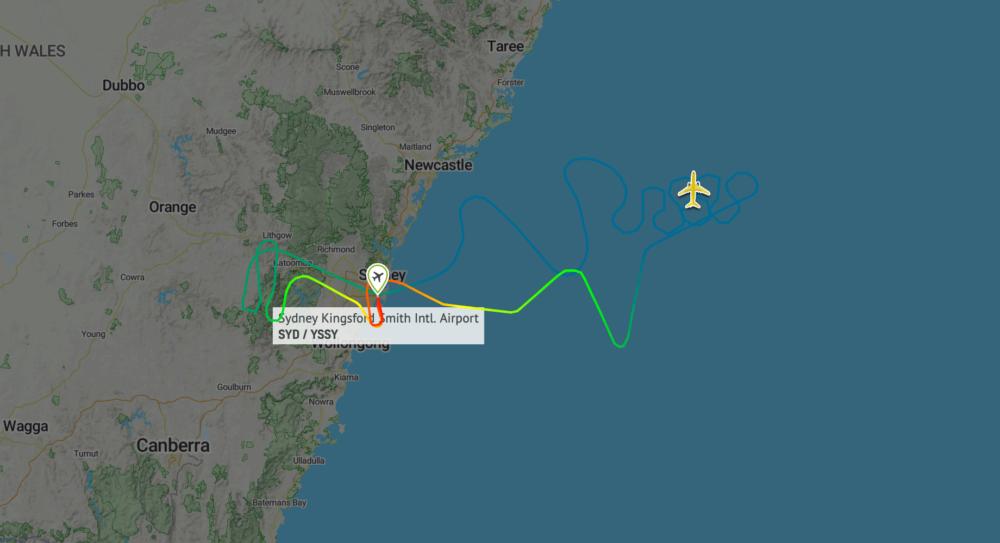 Qantas 787 Cosmic Flight Map