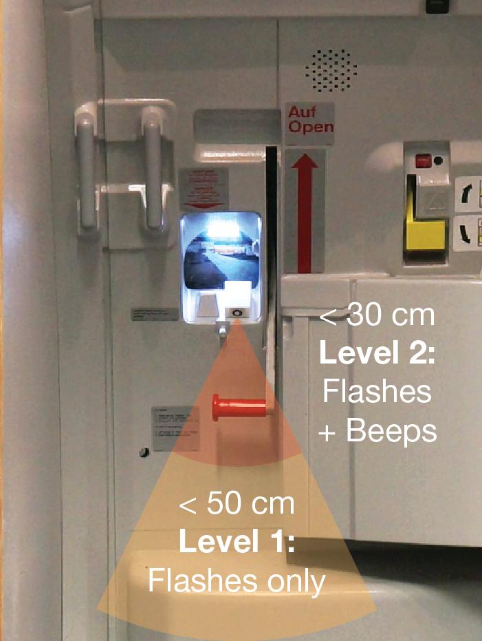 Inadvertent Slide Deployment Prevention Light