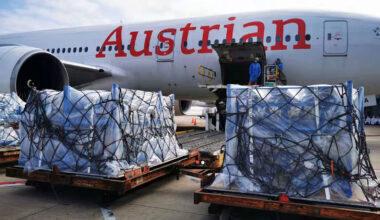 Austrian Airlines, Boeing 777, Makeshift Freighter