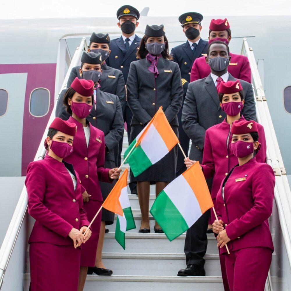 Qatar Airways Abidjan inaugural flight
