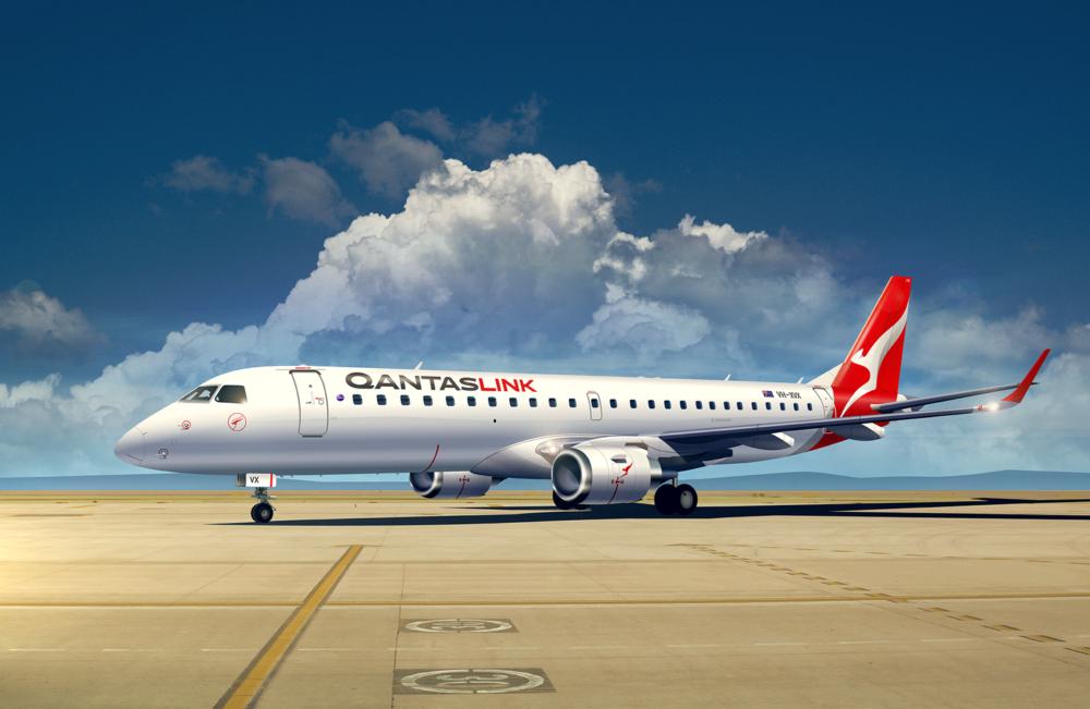 Alliance QantasLink Embraer 190 (3d) ramp LR